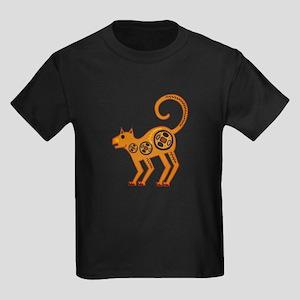 Cat Lovers Art Kids Dark T-Shirt