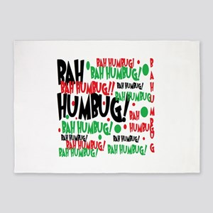 Bah Humbug Chr 5'x7'Area Rug