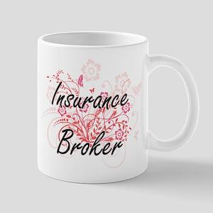 Insurance Broker Artistic Job Design with Flo Mugs