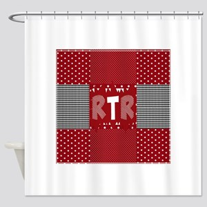 RTR houndstooth Shower Curtain