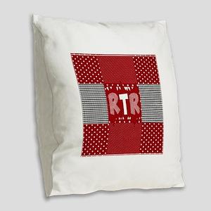 RTR houndstooth Burlap Throw Pillow