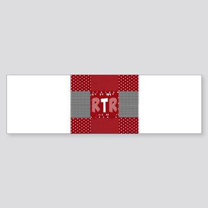 RTR houndstooth Bumper Sticker