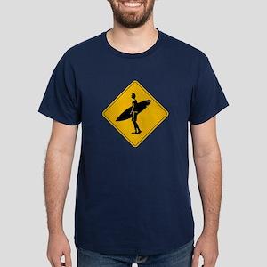 Surfers Crossing, San Diego, Californ Dark T-Shirt