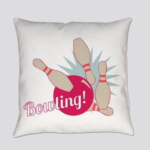 Bowling Ball & Pins Everyday Pillow
