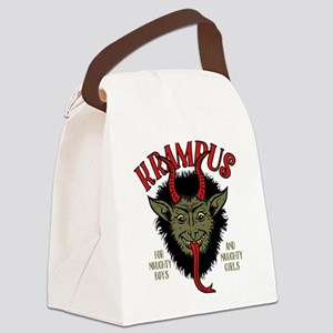 Krampus Face Naughty Canvas Lunch Bag