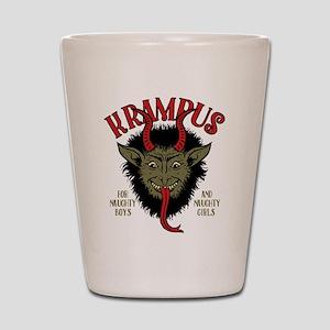 Krampus Face Naughty Shot Glass
