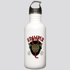 Krampus Face Naughty Water Bottle