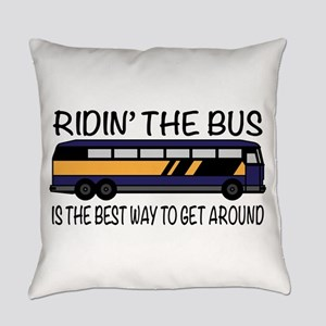 Ridin the Bus Everyday Pillow