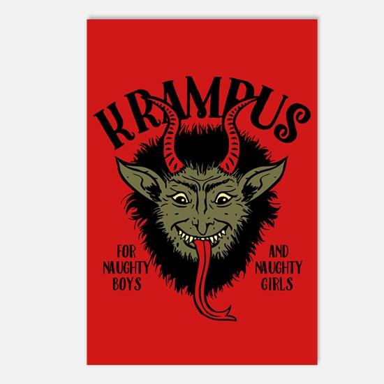Krampus Face Naughty Postcards (Package of 8)