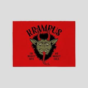 Krampus Face Naughty 5'x7'Area Rug
