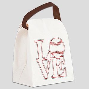 Love Baseball Classic Canvas Lunch Bag