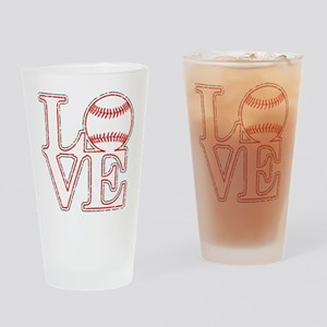 Love Baseball Classic Drinking Glass