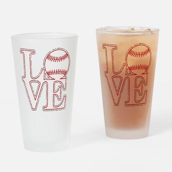 Love Baseball Classic Drinking Glass