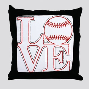 Love Baseball Classic Throw Pillow