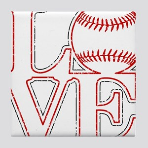 Love Baseball Classic Tile Coaster
