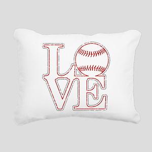 Love Baseball Classic Rectangular Canvas Pillow