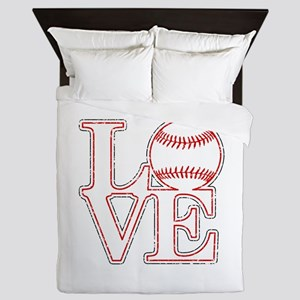 Love Baseball Classic Queen Duvet