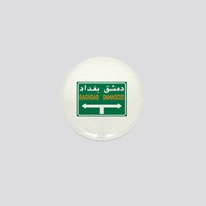 Baghdad-Damascus Crossroads, Syria Mini Button