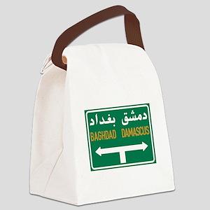 Baghdad-Damascus Crossroads, Syri Canvas Lunch Bag