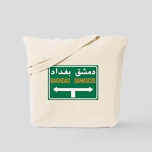 Baghdad-Damascus Crossroads, Syria Tote Bag