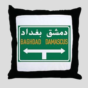 Baghdad-Damascus Crossroads, Syria Throw Pillow