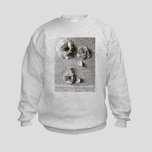 Paper Rose 3D Artwork Print Kids Sweatshirt