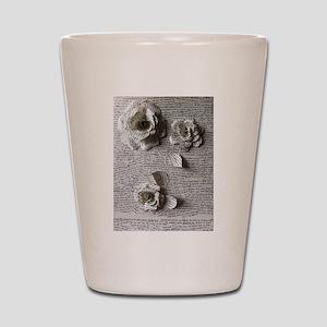 Paper Rose 3D Artwork Print Shot Glass