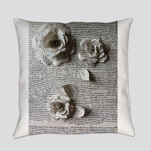 Paper Rose 3D Artwork Print Everyday Pillow