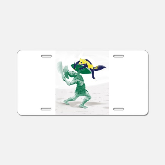 Hoplite vs. Wolverine Aluminum License Plate