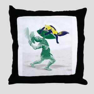 Hoplite vs. Wolverine Throw Pillow