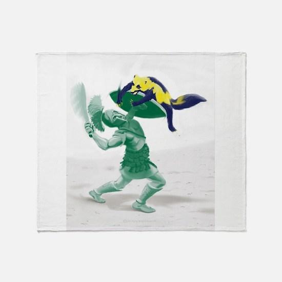 Hoplite vs. Wolverine Throw Blanket