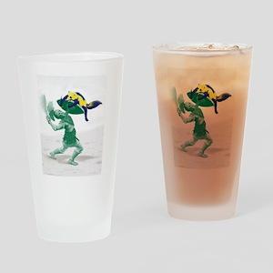 Hoplite vs. Wolverine Drinking Glass