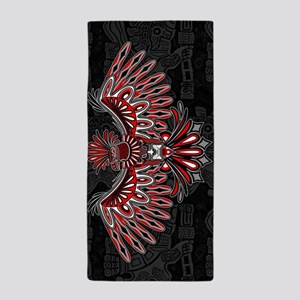 Eagle Tattoo Style Haida Art Beach Towel