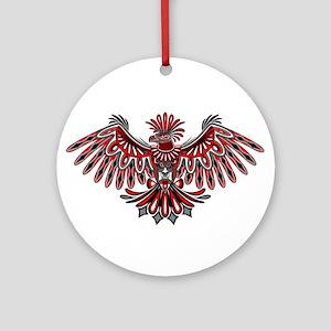 Eagle Tattoo Style Haida Art Round Ornament