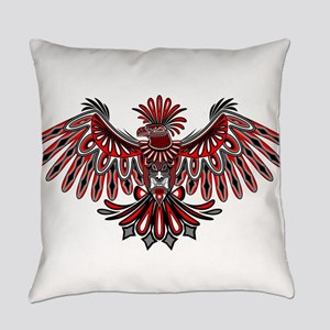 Eagle Tattoo Style Haida Art Everyday Pillow