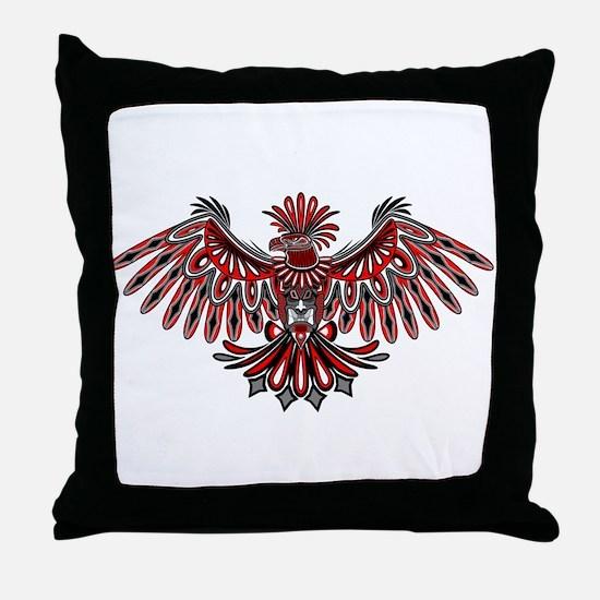 Eagle Tattoo Style Haida Art Throw Pillow