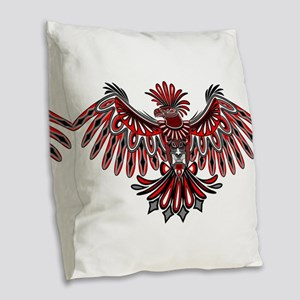 Eagle Tattoo Style Haida Art Burlap Throw Pillow