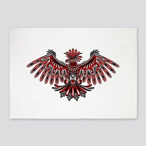 Eagle Tattoo Style Haida Art 5'x7'Area Rug