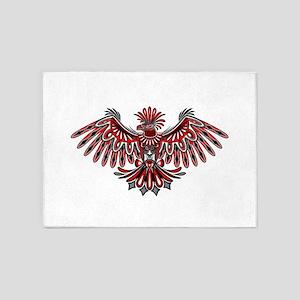 Eagle Tattoo Style Haida Art 5'x7'Area Rug