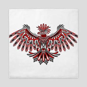 Eagle Tattoo Style Haida Art Queen Duvet