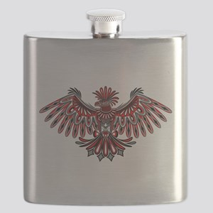 Eagle Tattoo Style Haida Art Flask