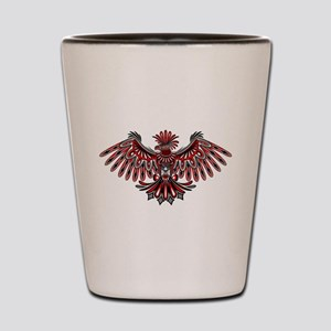 Eagle Tattoo Style Haida Art Shot Glass