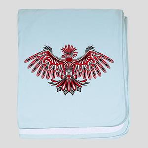 Eagle Tattoo Style Haida Art baby blanket