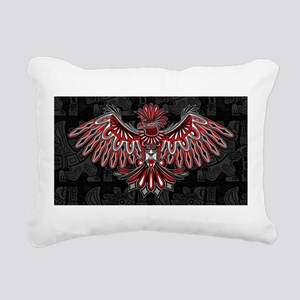 Eagle Tattoo Style Haida Art Rectangular Canvas Pi