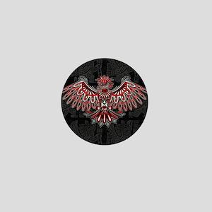 Eagle Tattoo Style Haida Art Mini Button