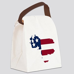Venezuelan American Canvas Lunch Bag