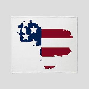 Venezuelan American Throw Blanket