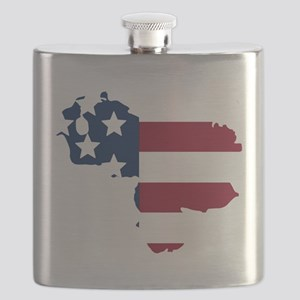 Venezuelan American Flask