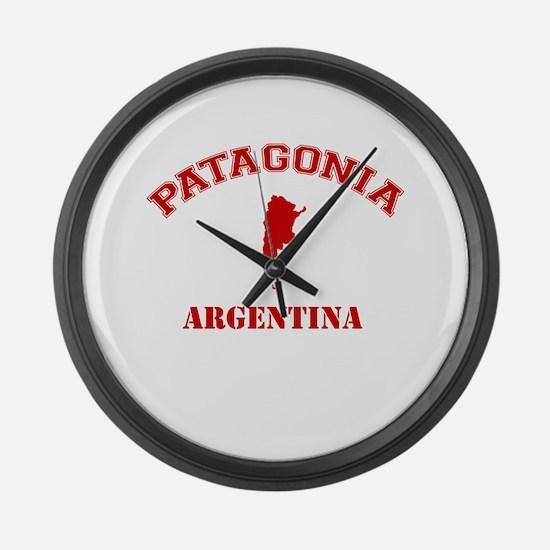 patagonia2 red.png Large Wall Clock