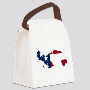 Panamanian American Canvas Lunch Bag